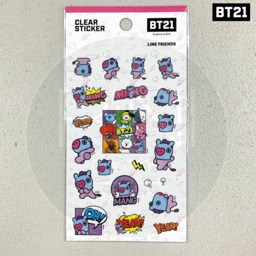 BTS BT21 Official Authentic Goods Clear Sticker Ver2 7SET Tracking