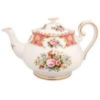 Royal Albert Lady Carlyle Teapot Tea Pot Bone China With Tag