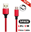 miniature 10 - 5 Pack Micro USB Braided Fast Charger Data Sync Cable Cord For Samsung Android