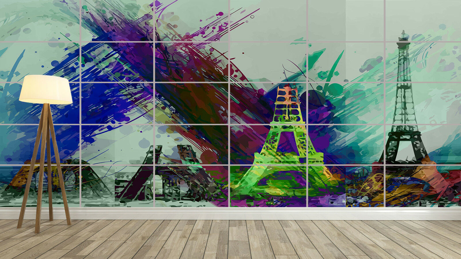 El ultimo 2018 PARIS TOUR EIFFEL TOWER ABSTRACT ABSTRAIT Giant Poster Poster Poster Home Deco Salon 252cmX150  Más asequible