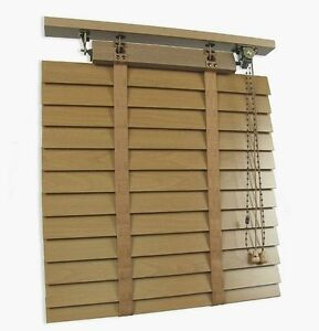 50mm Retro Wooden Venetian Blinds Made To Measure Wood Blinds 8