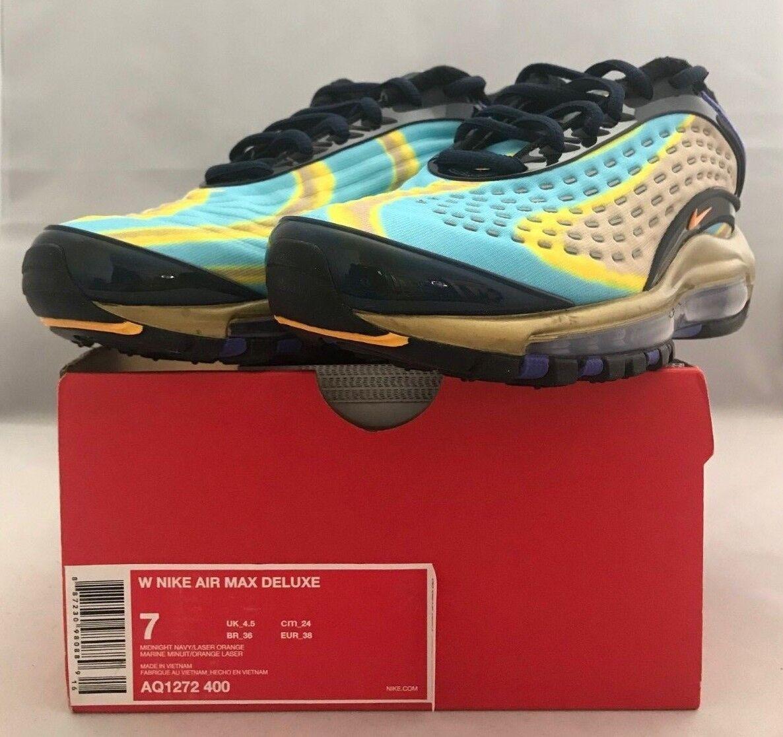 79d21d57c4 Nike Air Max Deluxe Deluxe Deluxe Women Size 7 AQ1272-400 0c9050 ...