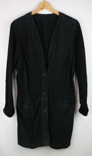 Bally Black Dyed Suede Leather & Knit MODERN Long