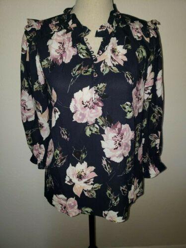 REBECCA TAYLOR Blouse Sz 4 Silk Victorian Style Fl