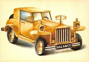 Carte-Postale-Signe-du-ZODIAC-BALANCE-serie-Automobile