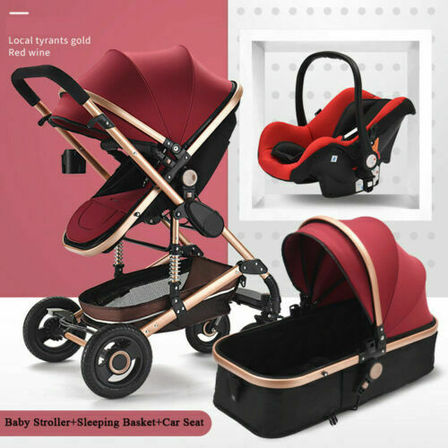 YulDek 3 in 1 fashion design Baby Stroller//Push-chair UK Stock express delivery
