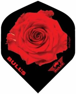 Bulls Powerflight 100 Micron Dart Flights  Standard Shape  Red Rose Black - UK, United Kingdom - Bulls Powerflight 100 Micron Dart Flights  Standard Shape  Red Rose Black - UK, United Kingdom