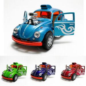 Kinsmart-1-32-DIE-CAST-Volkswagen-Beetle-Custom-dragracer-AUTO-modello-con-scatola