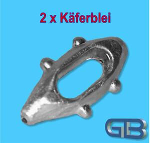 2-x-Kaeferblei-30g-50g-90g-Futterblei-Inline-bleie-Karpfenblei-Angelblei