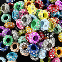 Wholesale Crystal Alloy Large Hole Spacer Loose Bead Fit European Charm Bracelet