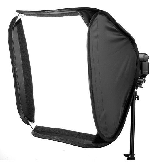 "60 x60cm 24"" Soft Box Kit Softbox for Canon Nikon Pentax Olympus Flash Speedlite"