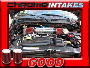 "Filter 3.5/"" RED 2004 2005 2006 2007 Liberty 3.7L V6 Dual Twin Air Intake"