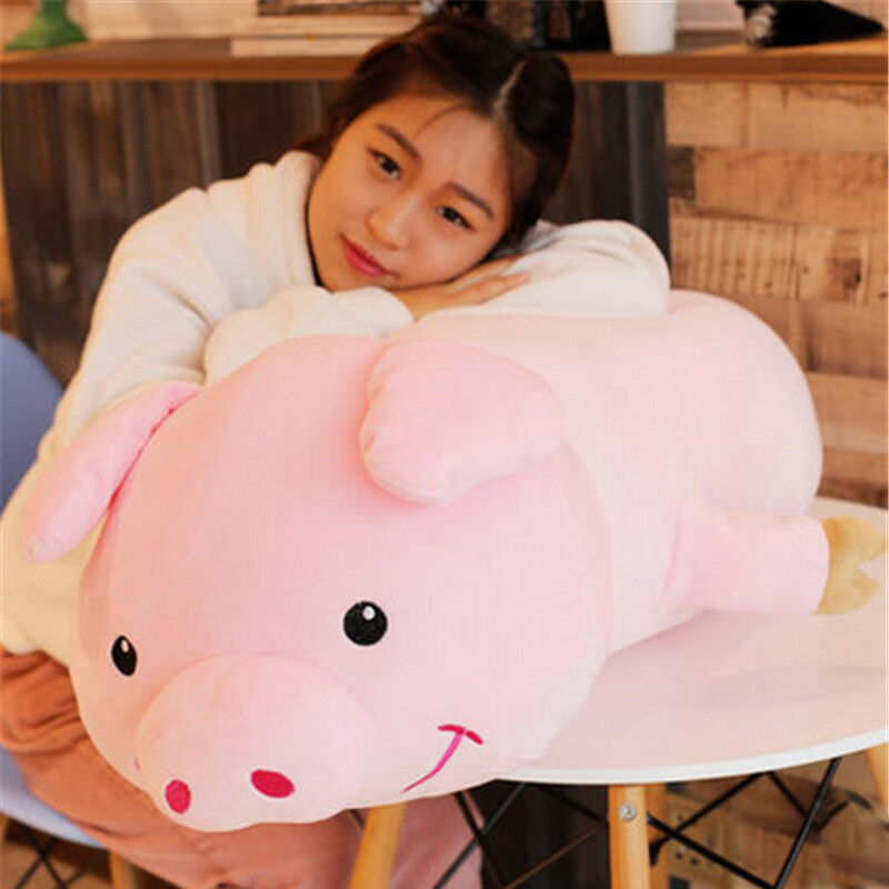 Big Soft Suits Pig Plush Pillow Toy Giant 35in. Cushion Stuffed Animal Doll Gift