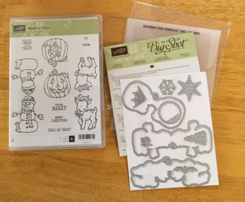 Stampin'Up! SEASONAL CHUMS with matching SEASONAL TAGS FRAMELITS , NEW