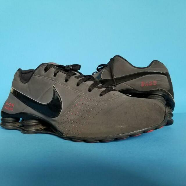 NIKE SHOX Deliver SNEAKERS Anthracite BLACK Varsity Red Running SHOES sz 13