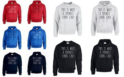 THIS IS WHAT A FEMINIST LOOKS LIKE Sweatshirt JH030 Sweater Jumper Cool Top