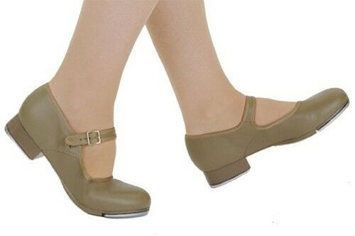 Capezio Mary Jane Tap Shoe Style 3800 Tan Tap Shoe Girls Womens