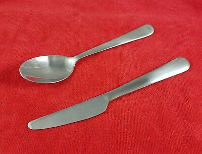 """Ikea Stainless Steel DRAGON Lot of 2 Oval Soup Spoons 7 1//2/"""" NEW"""