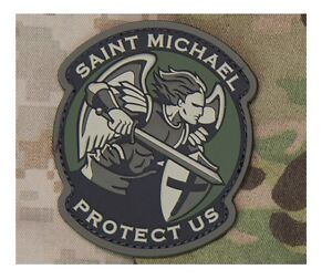 Details about Milspec Monkey MSM Patch Saint St  Michael Protect Us -  Modern - MULTICAM PVC