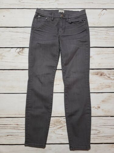 Stretch J Jeans Trademark Cure crew Taille Skinny dents 28 Ankle Denim Gris 8wY8q