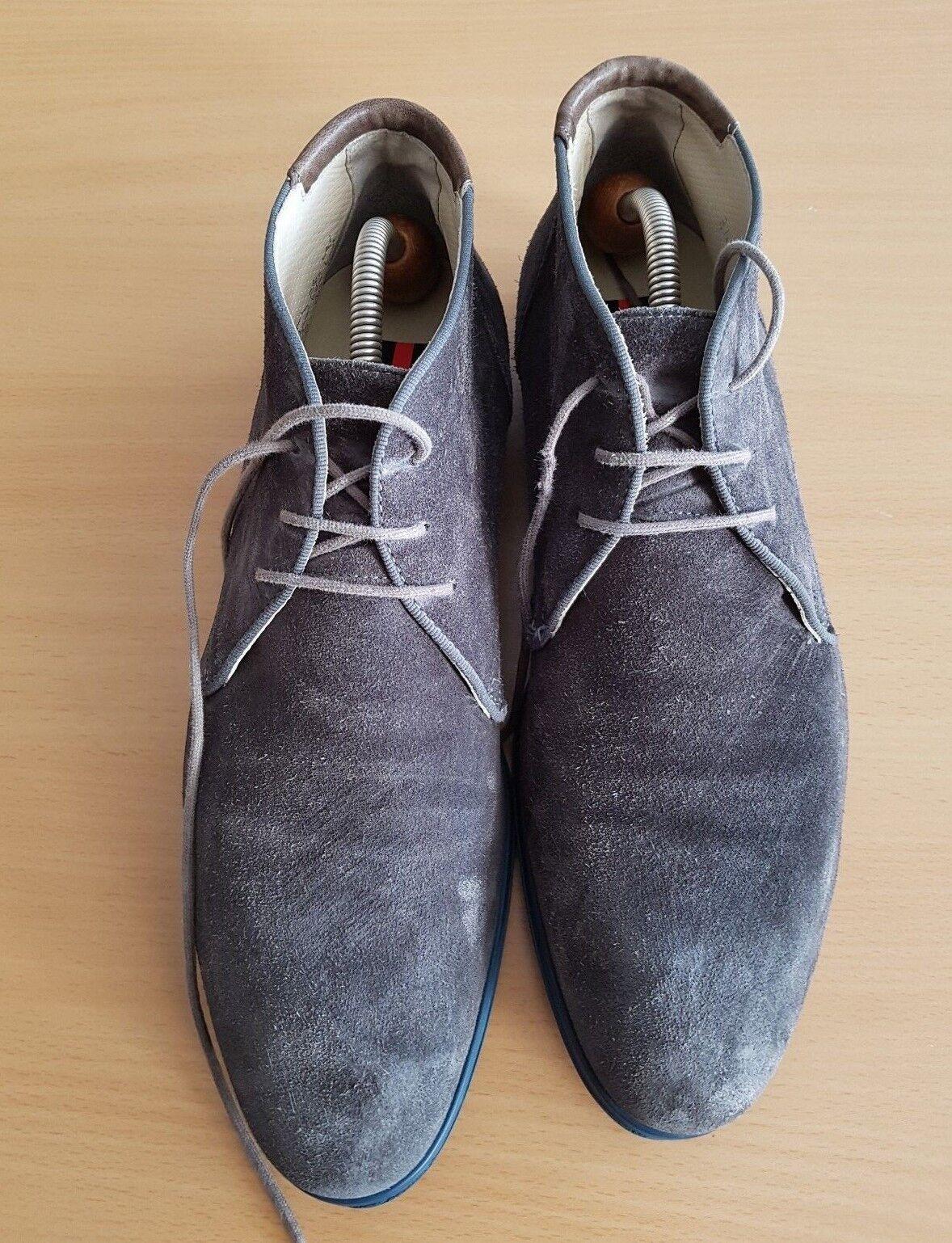 Lloyd Herren Stiefel Gr. Boots Stiefeletten Wildeder grau Gr. Stiefel 8.5 / 42.5 579d82