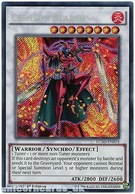 LC5D-EN074 Crimson Blader Secret Rare 1st Edition Mint YuGiOh Card