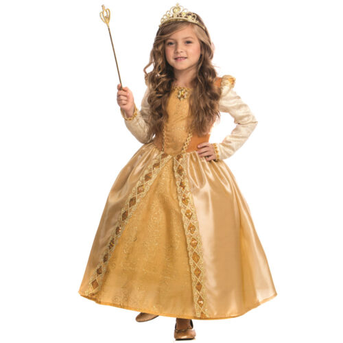 Majestic Golden Princess Costume For Girls By Dress up America