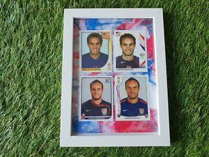 4x-PANINI-All-FIFA-WC-2002-2014-LANDON-DONOVAN-Framed-encadres-USA-LOS-ANGELES