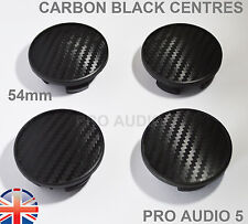 4x Mini Black Carbon 3D Wheel Centre Caps 54mm Coupe Clubman Cooper S UK Post