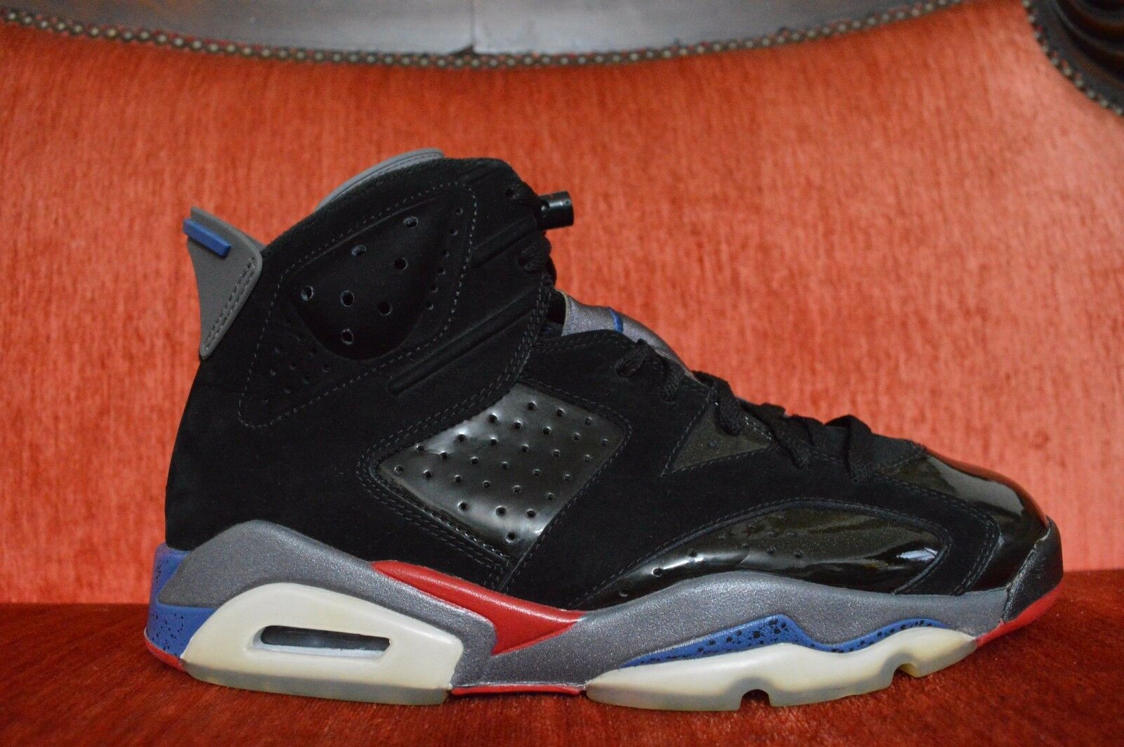 NDS Nike Air Jordan 6 Retro XI Pistons Blue Black Red 384664-001 Size 9 OG ALL