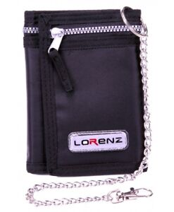 Men's Boy's Lorenz valcro trifold rippa sports wallet with chain THREE COLOURS