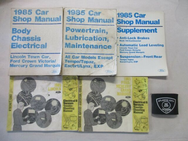 1985 Ford Crown Victoria Lincoln Town Car Grand Marquis Service Manual Set