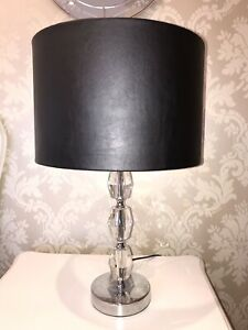 Leather-Look-Handmade-Lampshade-In-Black-25cm-Contemporary