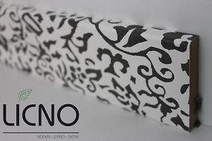 schwarz weiss sockelleiste sockelleisten laminat parkett boden von licno ebay. Black Bedroom Furniture Sets. Home Design Ideas