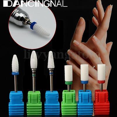 Ceramic Nail File Drill Bit Barrel Smooth Stop Cuticle Flame Remove Dead Skin