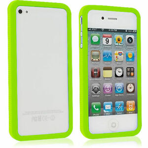 innovative design 50381 290b0 Details about 2 Pack TPU Bumper Solid Rubber Case Cover Accessory for  iPhone 4 4S 4G