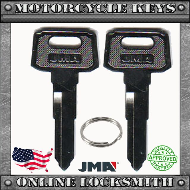 2 New Uncut Keys For Yamaha Motorcycles Codes: A32010-A79897- YH46 / YAMA-18I