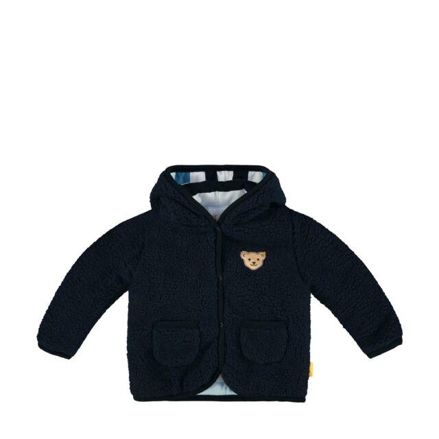 Warme Baby Jacke mit Kapuze Blau Gr 62 68 74 80 86 Neutral