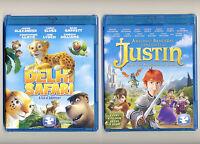 Delhi Safari & Justin, 2 Animated Pg Family Dove Movies, Blu-rays & Dvds Lot