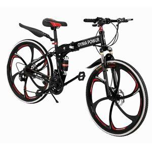 Outroad Mountain Bike 21 Speed 26 inch Folding Bike Double Disc Brake Bicycles P