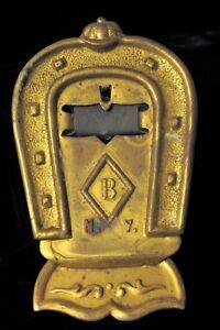 Tremendous Details About Antique Brass Ny Equestrian Horse Shoe Jocket Hat Desk Letter Clip Racing Beutiful Home Inspiration Xortanetmahrainfo