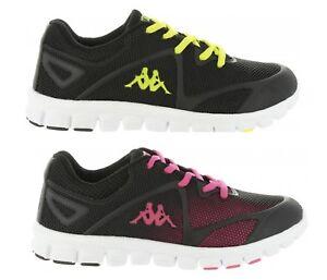 4e3f6d246ff Kappa Speeder 3 Lace Kids Junior Boys Girls Trainers Black Pink ...