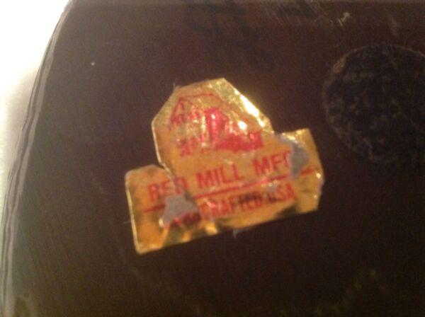 Vintage Red Mill Hand-Carved Hard Wood Duck/Decoy Lignum Vitae? w Foil Label VG+