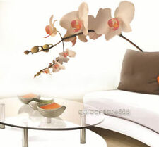 LARGE Creamy Orchid Flowers Tree  PVC Wall Stickers Decal Art Mural Decor Paper