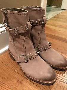 5eb46dfe7 Image is loading Womens-Sam-Edelman-Adele-Beach-Moto-Boot-Size-