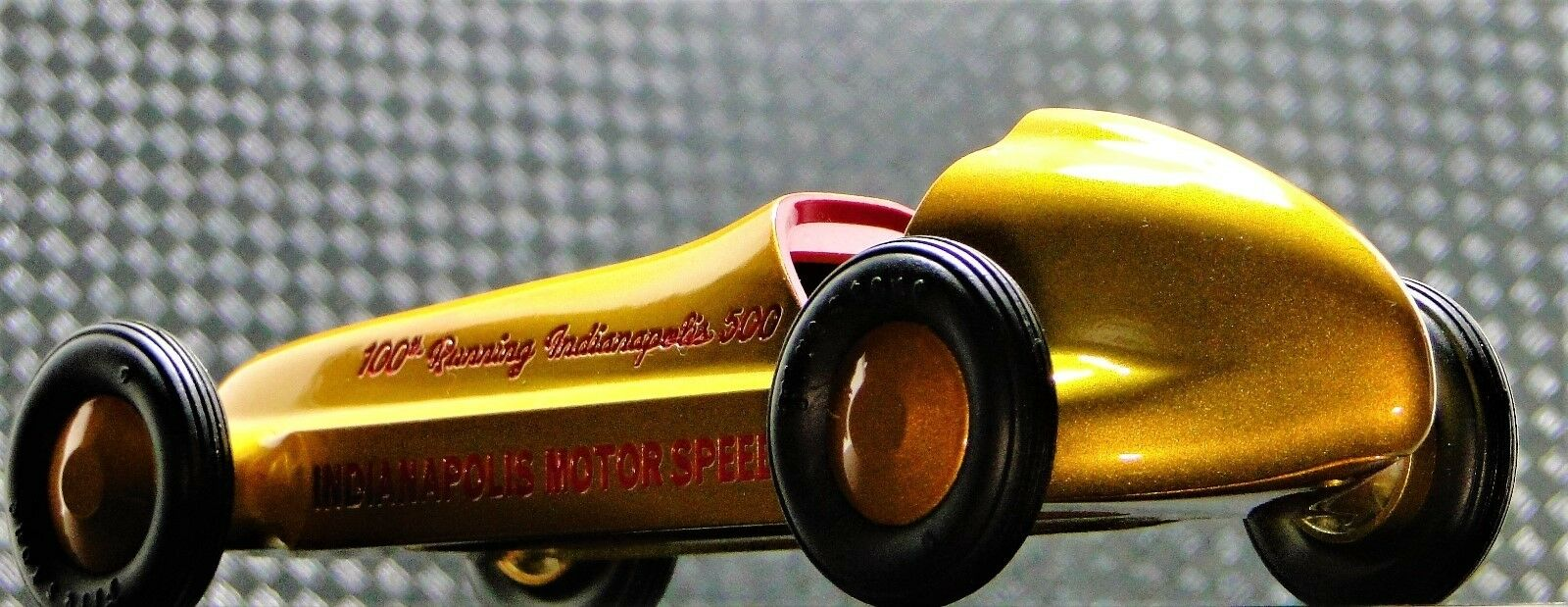 Tether Racer Vintage Midget Race Car GP F Indy 500 1 18 Carousel oro Metal 12
