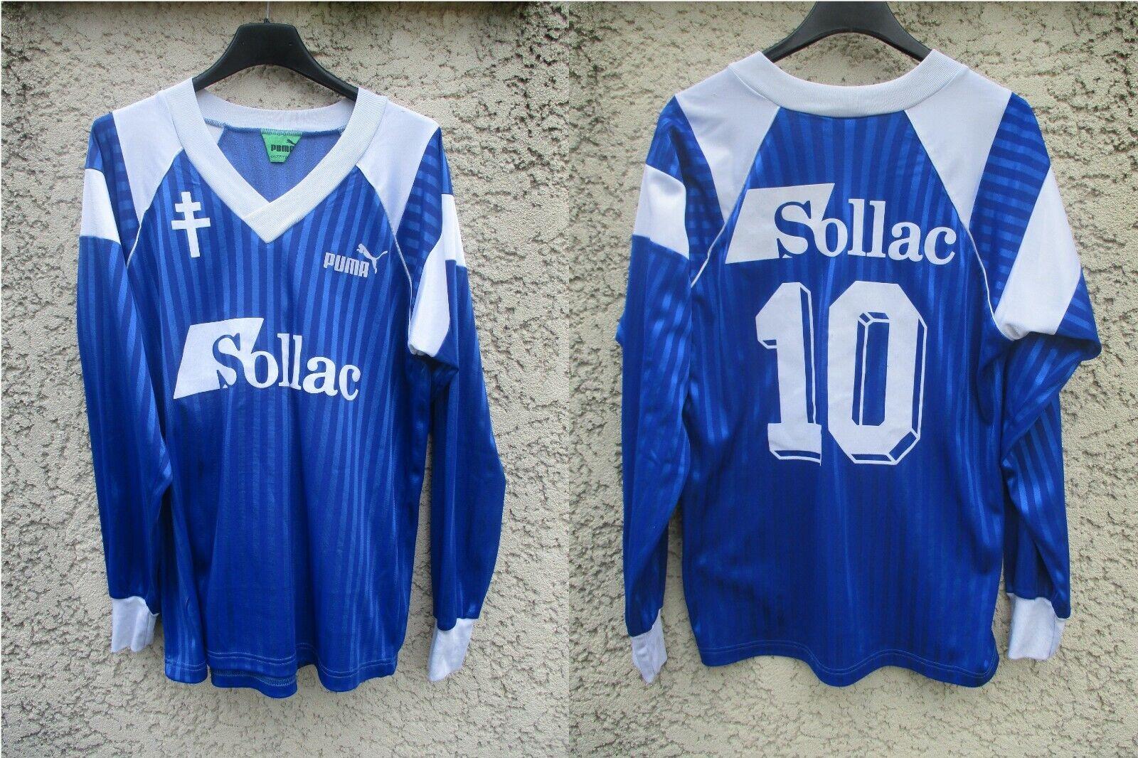Maillot F.C METZ n°10 1992 PUMA vintage away shirt trikot manches longues L S S