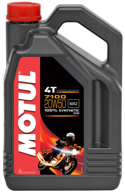 Aceite Motul 7100 20w50 4 litros para moto 100%sintetico