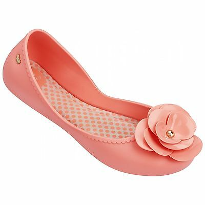 Ladies Zaxy Start Blossom Black Contrast Flat Jelly Pumps Ballerina Shoes UK 3-8