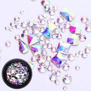 AB-Color-3D-Nail-Art-Rhinestones-Flat-Back-Mixed-Shape-Decoration-Tips